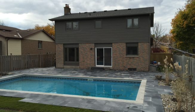 Pool landscaping, Milton landscaping