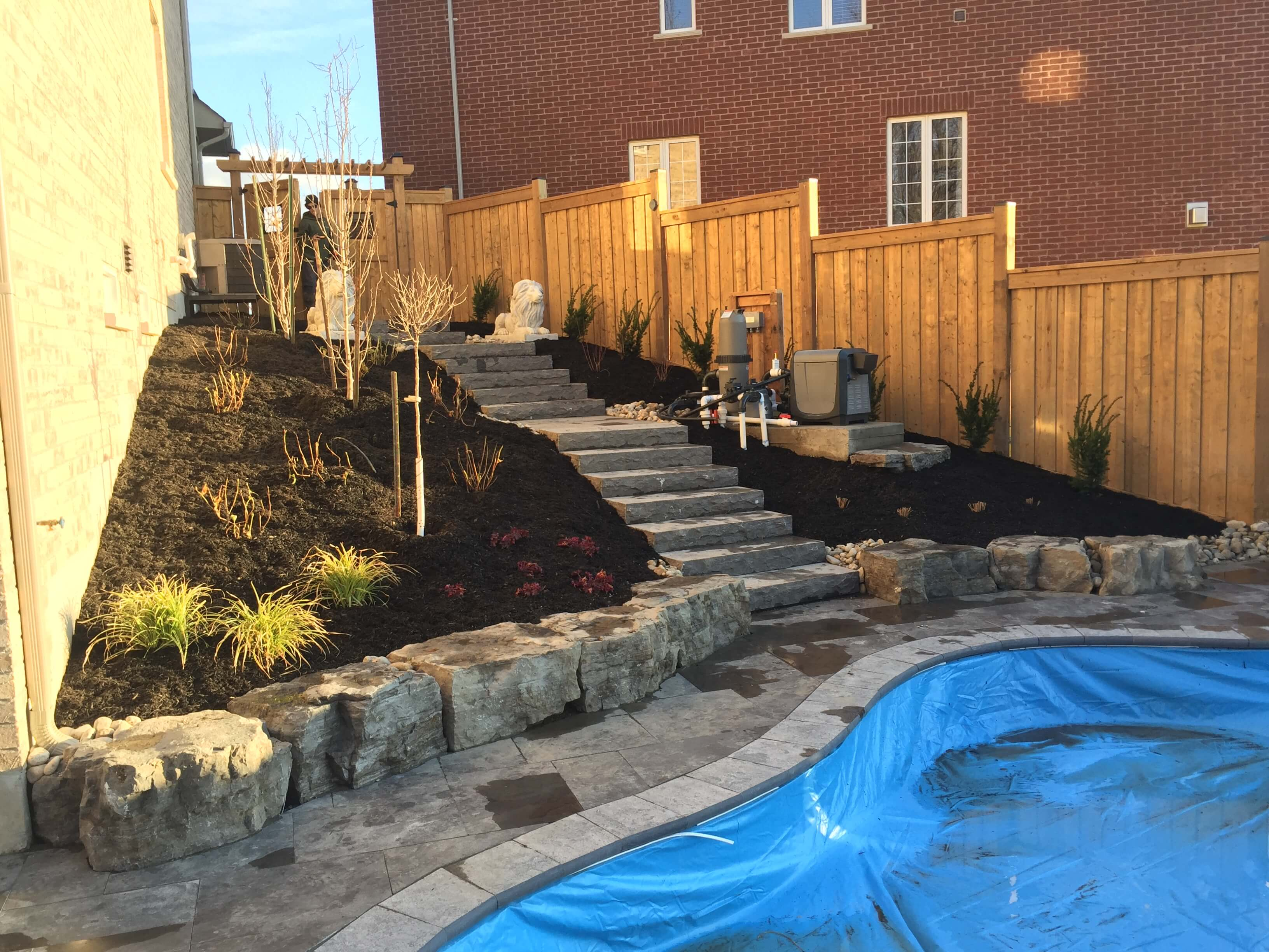 Landscaping, pool landscaping in Milton, Oakville