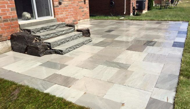 landscaping, landscape rocks, patios, interlocking