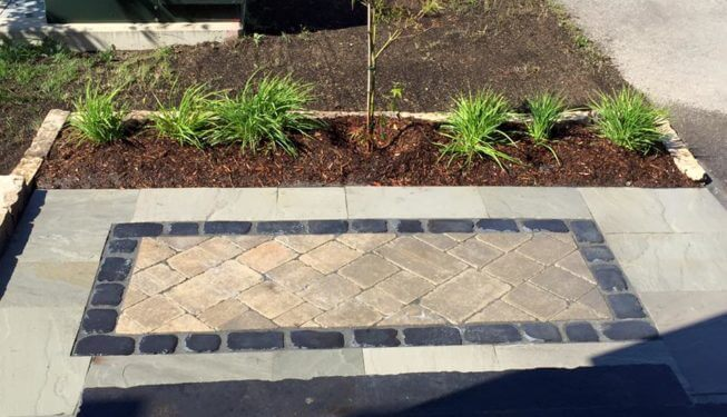 Stone, front yard landscaping ideas