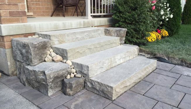 natural stone steps, landscape rocks